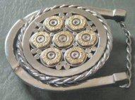 Horseshoe with Sixgun Design
